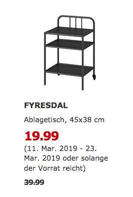 IKEA Bielefeld - FYRESDAL Ablagetisch, schwarz - jetzt 50% billiger