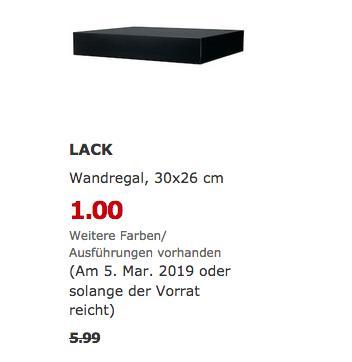 IKEA Bremerhaven - LACK Wandregal, schwarz, 30x26 cm - jetzt 83% billiger