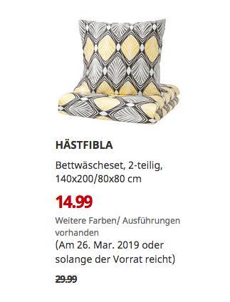 IKEA Brinkum - HÄSTFIBLA Bettwäscheset, 2-teilig, grau/gelb, 140x200/80x80 cm - jetzt 50% billiger