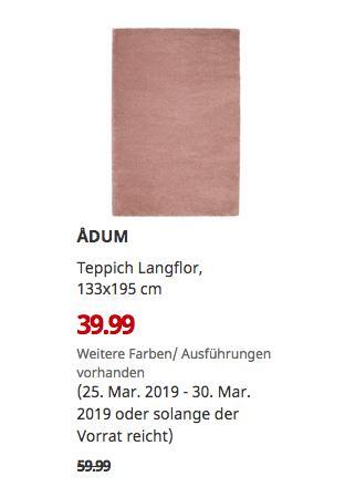 IKEAChemnitz - ADUM Teppich Langflor, hell braunrosa, 133x195 cm - jetzt 33% billiger