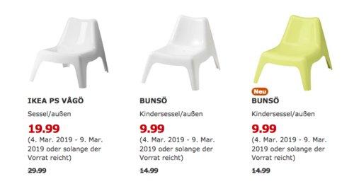 IKEA Düsseldorf - PS VAGÖ Sessel/außen, weiß - jetzt 33% billiger