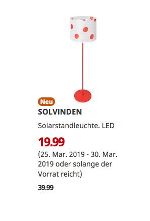 IKEAErfurt - SOLVINDEN Solarstandleuchte, LED,150 cm - jetzt 50% billiger