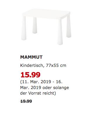 IKEA Essen - MAMMUT Kindertisch, weiß, - jetzt 20% billiger