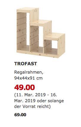 IKEA Frankfurt - TROFAST Regalrahmen, hell Kiefer, 94x44x91 cm - jetzt 29% billiger