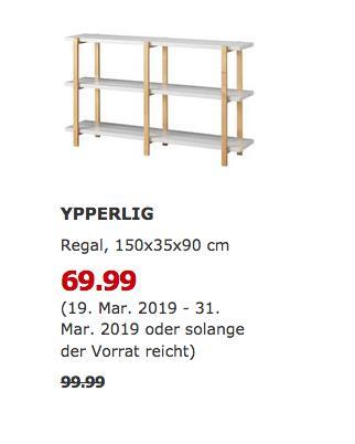 IKEA Frankfurt - YPPERLIG Regal, 150x35x90 cm, hellgrau - jetzt 30% billiger