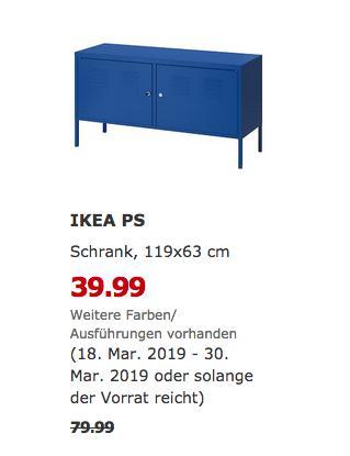 IKEA Freiburg - PS Schrank, blau, 119x63 cm - jetzt 50% billiger