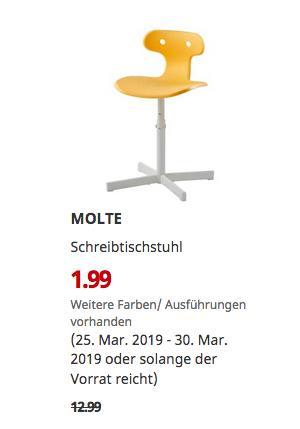 IKEA Großburgwedel? - MOLTE Schreibtischstuhl, gelb - jetzt 85% billiger