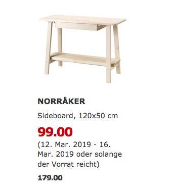IKEA Hamburg-Moorfleet - NORRAKER Sideboard, weiß Birke - jetzt 45% billiger