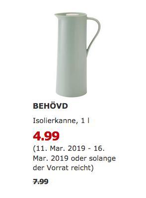 IKEA Hamburg-Schnelsen - BEHÖVD Isolierkanne, hellgrün,1 l - jetzt 38% billiger