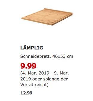 IKEA Hanau - LÄMPLIG Schneidebrett, Bambus, 46x53 cm - jetzt 23% billiger