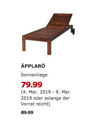 IKEA Köln-Godorf - ÄPPLARÖ Sonnenliege, braun - jetzt 11% billiger