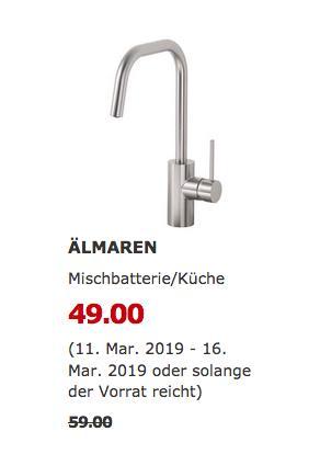IKEA Kaarst - ÄLMAREN Mischbatterie/Küche - jetzt 17% billiger