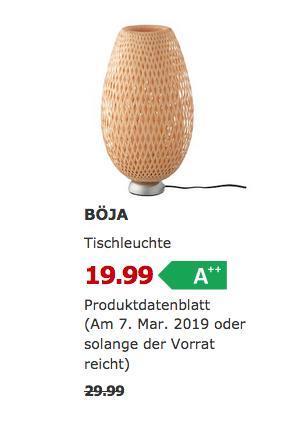 IKEA Kaiserslautern - BÖJA Tischleuchte, Rattan Bambus, 40 cm - jetzt 33% billiger