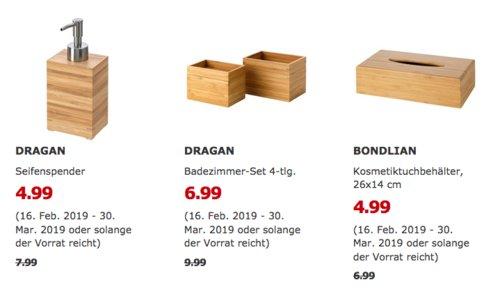 IKEA Kiel - DRAGAN Badezimmer-Set 4-tlg., Bambus - jetzt 30% billiger