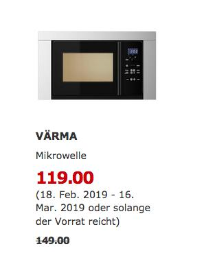 IKEA Ludwigsburg - VÄRMA Mikrowelle, Edelstahl - jetzt 20% billiger