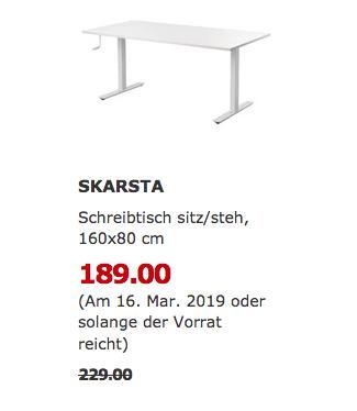 IKEAOldenburg - SKARSTA Schreibtisch, 160x80 cm - jetzt 17% billiger