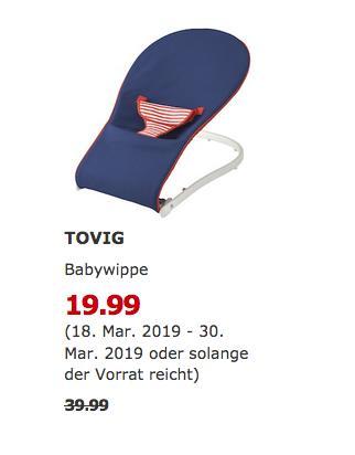 IKEA Osnabrück - TOVIG Babywippe, blau - jetzt 50% billiger