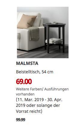 IKEA Sindelfingen - MALMSTA Beistelltisch, schwarzbraun, 54 cm - jetzt 31% billiger
