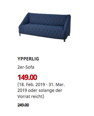 IKEA Sindelfingen - YPPERLIG 2er-Sofa, Orrsta schwarzblau - jetzt 40% billiger