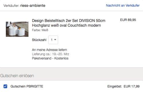 """Invicta Interior Beistelltisch """"Division"""" 2-er Set, Hochglanz Weiß - jetzt 20% billiger"""