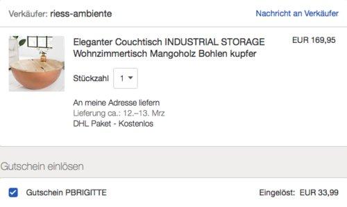 """Invicta Interior Couchtisch """"INDUSTRIAL STORAGE"""", 70 cm - jetzt 20% billiger"""