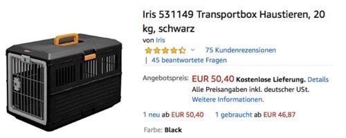 Iris 531149 faltbare Transportbox für Haustieren, 68,6 x 40,3 x 47,8 cm - jetzt 24% billiger
