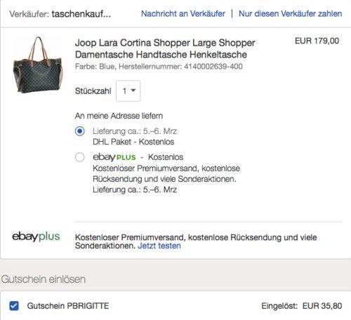 Joop Lara Cortina Shopper, blue - jetzt 20% billiger