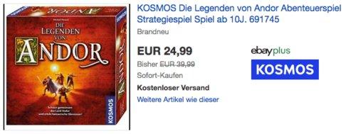 KOSMOS 691745 - Die Legenden von Andor, Abenteuerspiel - jetzt 14% billiger