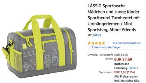 """LÄSSIG Kinder-Sporttasche """"About Friends"""", grau, 40 x 25 x 29 cm - jetzt 10% billiger"""