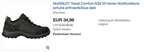 McKINLEY Travel Comfort AQX M Trekking-& Wanderhalbschuh, anthracite/blue dark - jetzt 18% billiger