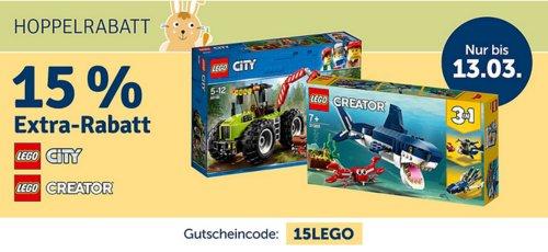 myToys.de 15% Extra-Rabat auf LEGO City oder LEGO Creator: z.B. LEGO 10261 Creator Achterbahn - jetzt 15% billiger