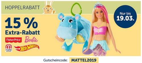 myToys.de 15% Extra-Rabat auf Mattel: z.B. Fisher-Price Rainforest Piano-Gym Spieldecke - jetzt 14% billiger