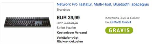 Networx Pro Tastatur für Apple, spacegrau - jetzt 20% billiger