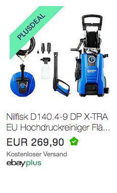 Nilfisk D 140.4-9 DP X-tra Hochdruckreiniger inkl. Patio Cleaner Flächenreiniger und Rohrreinigungs-Set - jetzt 10% billiger