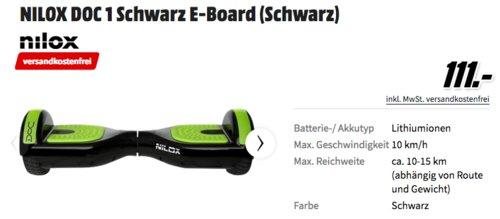 NILOX DOC 1 Schwarz E-Board, max. 10 km/h - jetzt 20% billiger