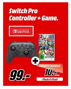 Nintendo Switch Pro-Controller + Super Smash Bros. Ultimate inkl. 10€ Coupon - jetzt 14% billiger