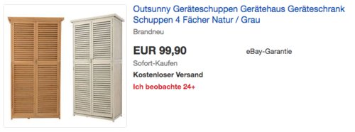 Outsunny Holz-Geräteschuppen mit 4 Fächer, L87 x W46.5 x H160cm - jetzt 17% billiger