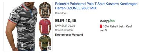 OZONEE Herren-Poloshirt, versch. Farben und Größen - jetzt 19% billiger