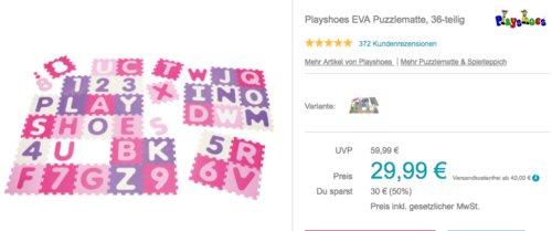 Playshoes EVA Puzzlematte, 36-teilig - jetzt 16% billiger