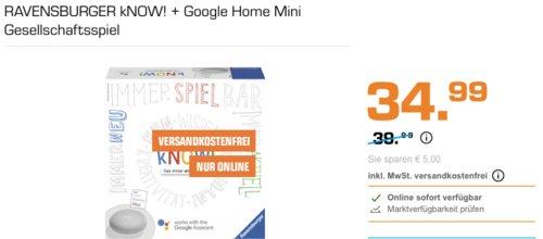 RAVENSBURGER kNOW! + Google Home Mini Gesellschaftsspiel - jetzt 13% billiger