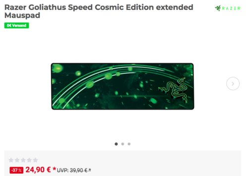 Razer Goliathus Speed Cosmic Edition extended Mauspad - jetzt 25% billiger