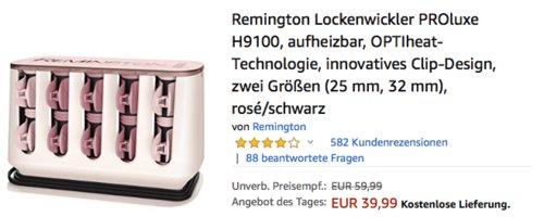 Remington Lockenwickler PROluxe H9100, rosé/schwarz - jetzt 11% billiger