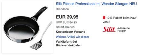 Silit Professional 26 cm Bratpfanne mit Wender - jetzt 17% billiger