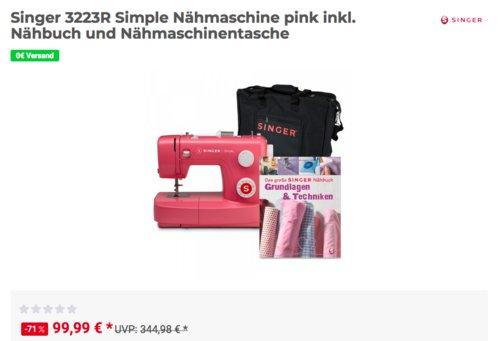 Singer 3223R Simple Nähmaschine, pink - jetzt 17% billiger
