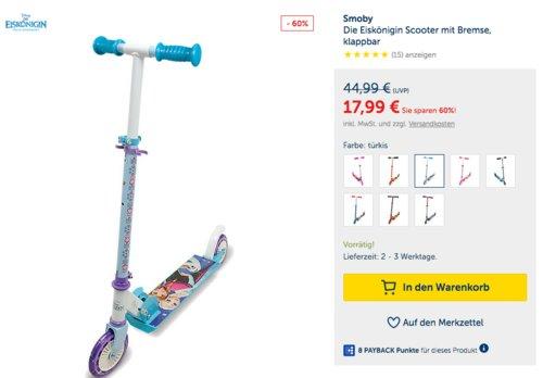 Smoby Die Eiskönigin Scooter mit Bremse, klappbar - jetzt 13% billiger