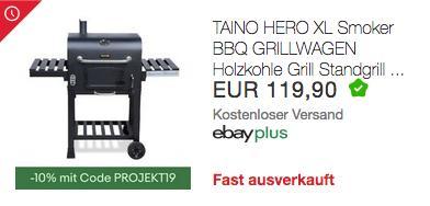 TAINO HERO XL Smoker/Holzkohlegrill, - jetzt 10% billiger