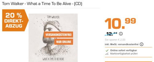 Tom Walker - What a Time to Be Alive - (CD) - jetzt 20% billiger