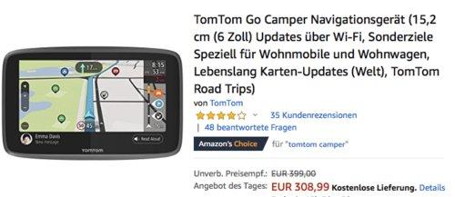 TomTom Go Camper Navigationsgerät, 6 Zoll - jetzt 11% billiger