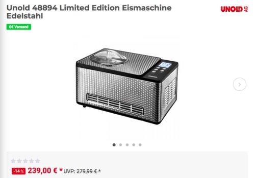Unold 48894 Limited Edition Eismaschine, 1,5 Liter - jetzt 14% billiger
