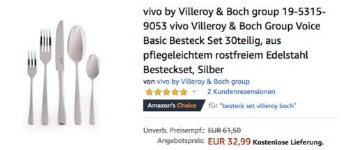vivo by Villeroy & Boch group 19-5315-9053 Basic Besteck-Set, 30-teilig - jetzt 26% billiger